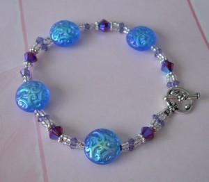 Winter Moon Bracelet in Royal Blue and Purple