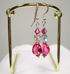 Flirty Fuchsia Dangle Earrings