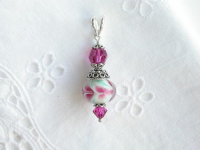 'Fuchsia Blossoms' Pendant