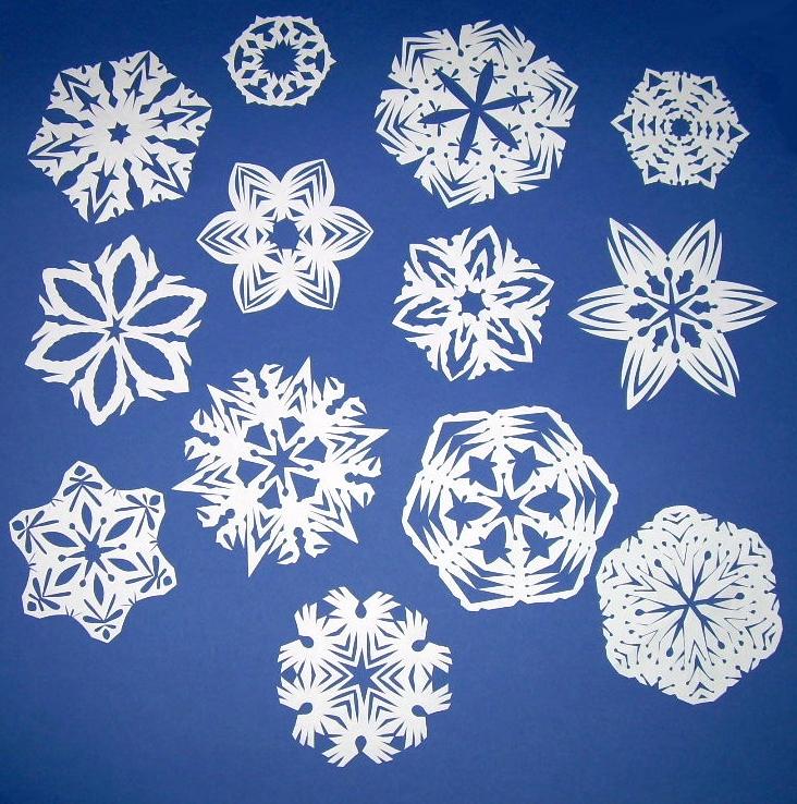 snowflakes paper