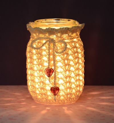 crocheting lacey jar cover Bead Happily Ever After