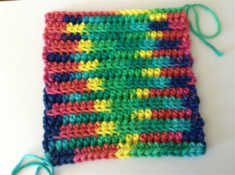 Z potholder Rainbow